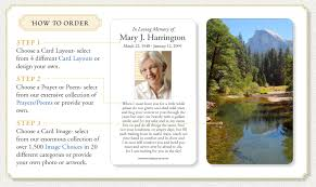 prayer cards for funerals how to order memorial prayer cards