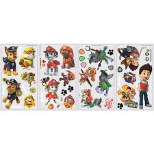 paw patrol peel stick wall decals walmart