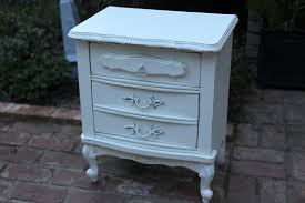 Vintage Nightstands Bedroom Gorgeous White Vintage Shabby Chic Night Stands With