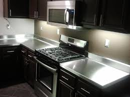 stainless steel countertop with sink stainless steel countertops black cabinets tatertalltails designs