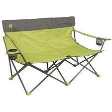 Coleman Reclining Camp Chair Amazon Com Coleman Quattro Lax Double Quad Chair Sports U0026 Outdoors
