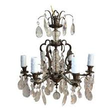 Crystal And Bronze Chandelier Vintage U0026 Used Bronze Chandeliers Chairish