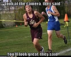 Meme Running Girl - how many calories crazy running girl