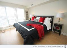 Black Red White Bedroom Ideas Not To Crazy About The Black And Red But My Husband Loves It