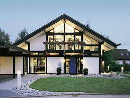 modern steel framed home in super minimalist interior design image