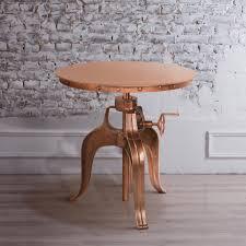 Adjustable Side Table Yosemite Home Decor Aged Copper Adjustable Side Table Yfur Sba5265