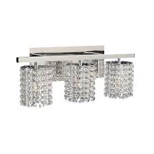 shop plc lighting rigga 3 light 9 in polished chrome waterfall