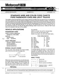 standard wire and color codes gary u0027s garagemahal