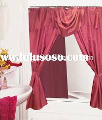 Menards Shower Curtains Shower Curtains With Valance And Tiebacks Designer Courtyard