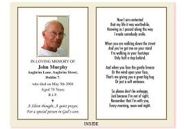 funeral card templates free manager billybullock us