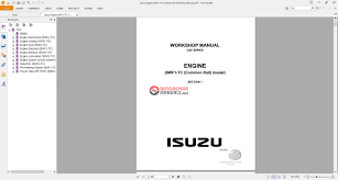 isuzu engine 6wf1 tc commanrail workshop manual auto repair