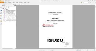 isuzu engine 6wf1 tc commanrail workshop manual auto repair