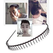 hairband men 2x sport hairband mens headband toothed metal football hair band