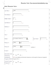 Formal Resume Template Blank Resume Templates Pdf Blank Resume Pdf Simple Sample