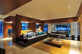 natural large mid century bungalow interior design that has cream