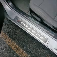 Exterior Door Threshold Replacement by Amazon Com Corvette Clear Door Sill Protectors C7 Stingray Z51