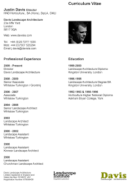 Architectural Resume Sample by Landscape Architect Resume Template Examples