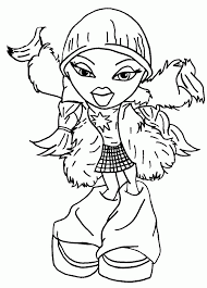 free bratz coloring pages coloring