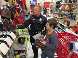 hoffman estates officers take children shopping for gifts