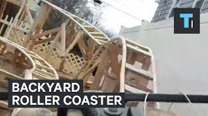 this guy made a roller coaster in his backyard youtube
