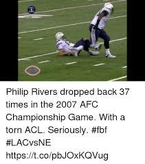 Fbf Meme - nel cbs fbf philip rivers dropped back 37 times in the 2007 afc