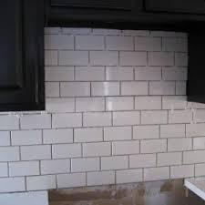 what size subway tile for kitchen backsplash standard subway tile size home tiles