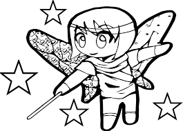 anime chibi magic coloring page wecoloringpage
