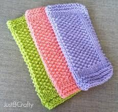 seed stitch dishcloth pattern allfreeknitting