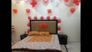 Birthday Decorations For Husband At Home by Surprise Room Decoration Balloon Decoration In Room Youtube