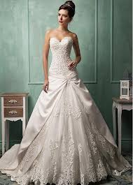 dropped waist wedding dress buy discount gorgeous satin tulle sweetheart neckline dropped
