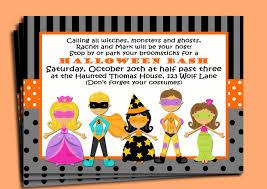 Birthday Invitation Card Kids Halloween Birthday Invitations Kids U2013 Festival Collections
