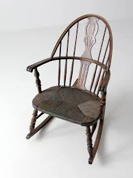 Vintage Rocking Chairs Antique Windsor Rocking Chair With Rush Seat U2013 86 Vintage