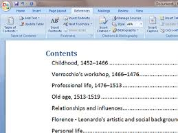 create table of contents in word how to create a table of contents in microsoft word lsa systems