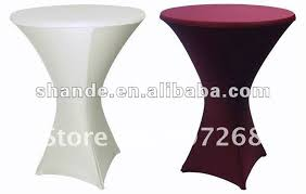 Spandex Table Cover Direct Factory Sale Brown Spandex Cocktail Table Cover Lycra