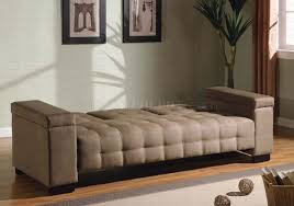 microfiber contemporary sofa bed w pull down table