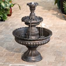 outdoor wonderful lowes water fountains for garden decor idea
