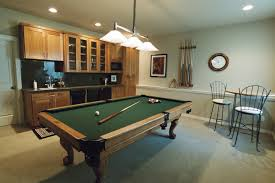 perfect basement design with game room layout combine green