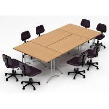 Rectangular Boardroom Table Team Tables Meeting Seminar 4 Piece Combo 10 U0027 Rectangular