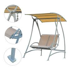 hammock bench outsunny garden swing chair 2 seater hammock lounger seat bench