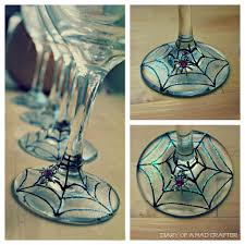 halloween wine glasses spiderweb wine glasses a tutorial diary of a mad crafter