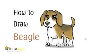 how to draw a cute cartoon beagle cartoon dog draw animal