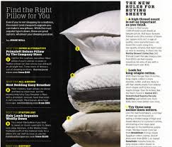 Best Bedding Material Men U0027s Journal Best All Around Pillow Is The Easy Breather Pillow
