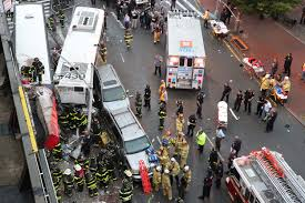 deadly bus collision during nyc rush hour new york post