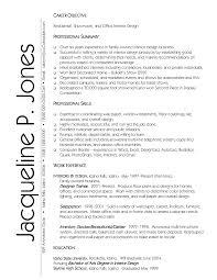 professional objectives interior design resume job description