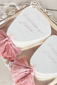 fan shaped wedding programs 27 cool ways to add tassels to your wedding weddingomania