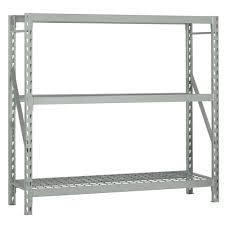 Lowes Metal Shelving by Furniture Bulk Storage Rack 3 Shelf Shelving Unit In Gray By