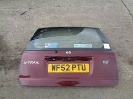 2001 2007 nissan x trail t30 tailgate with glass in royal ruby