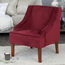 swoop arm velvet accent chair homepop