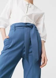 bow belt bow belt trousers women mango usa