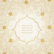 Wallpaper Invitation Card Vintage Invitation Card With Small Flowers And Curls U2014 Stock